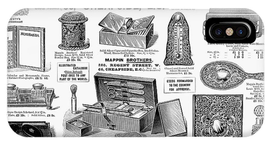 1895 IPhone X Case featuring the photograph Mappin Brothers Ad, 1895 by Granger