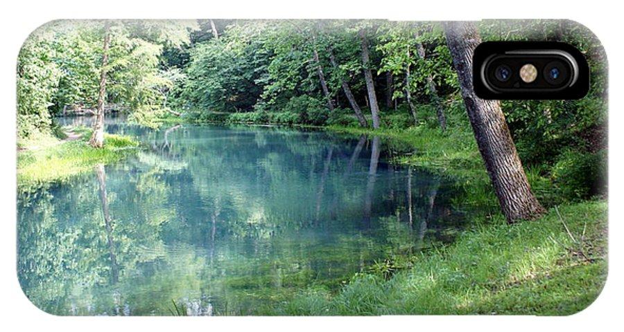 Maramec Springs Park IPhone X Case featuring the photograph Maramec Springs 1 by Marty Koch