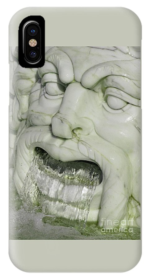Fountain IPhone X Case featuring the photograph Marble Head by Ann Horn