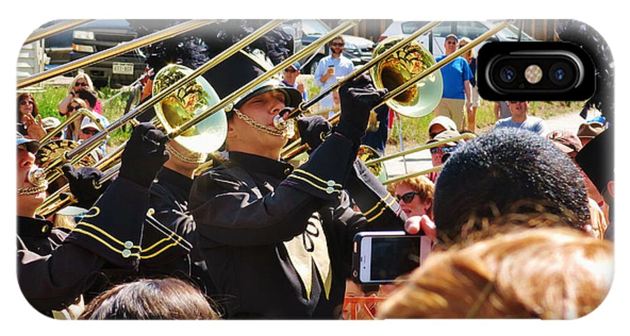 Photography IPhone X Case featuring the photograph Marching Band Brass by Sarah Maple