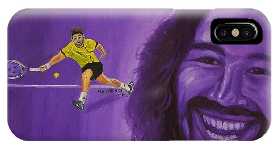 Marcos IPhone Case featuring the painting Marcos Baghdatis by Quwatha Valentine