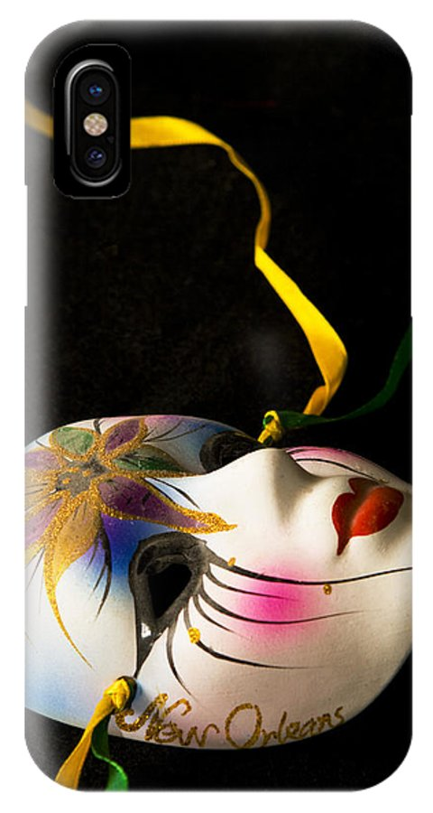 Mask IPhone Case featuring the photograph Mardi Gras by Ayesha Lakes