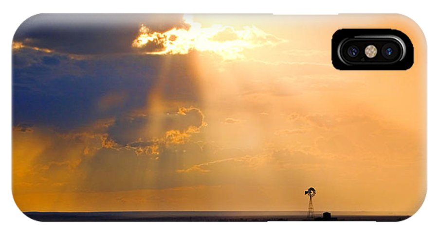 Skip Hunt IPhone Case featuring the photograph Marfa Windmill 1 by Skip Hunt