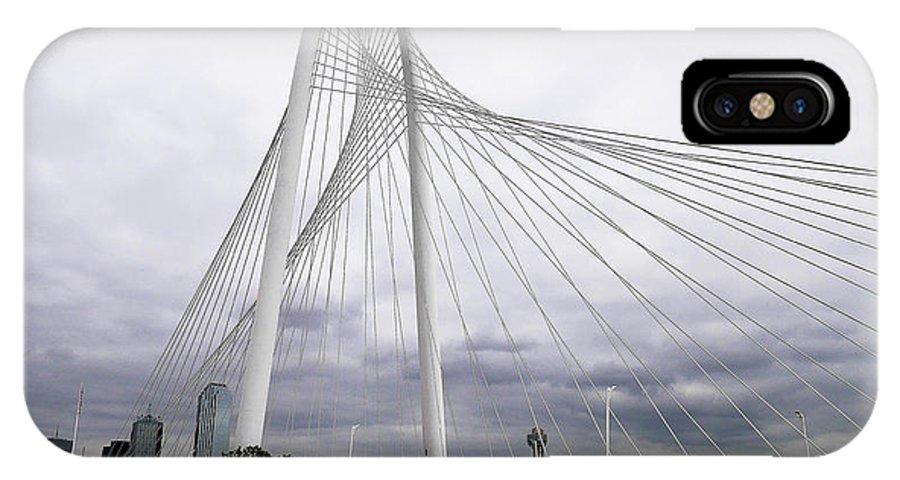 Bridge IPhone X Case featuring the photograph Marget Hunt Bridge by Joe Yvarra