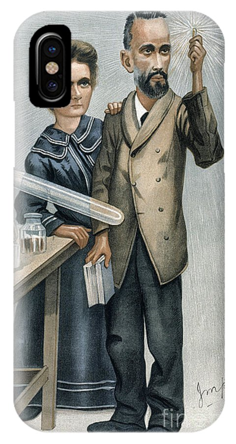 1904 IPhone X Case featuring the photograph Marie And Pierre Curie by Granger