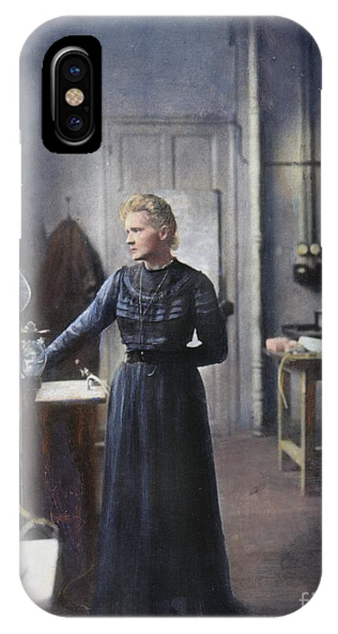 1908 IPhone X Case featuring the photograph Marie Curie (1867-1934) by Granger