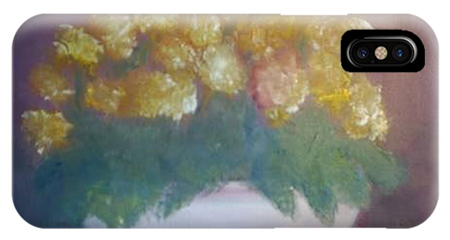 Marigolds IPhone X Case featuring the painting Marigolds by Sheila Mashaw