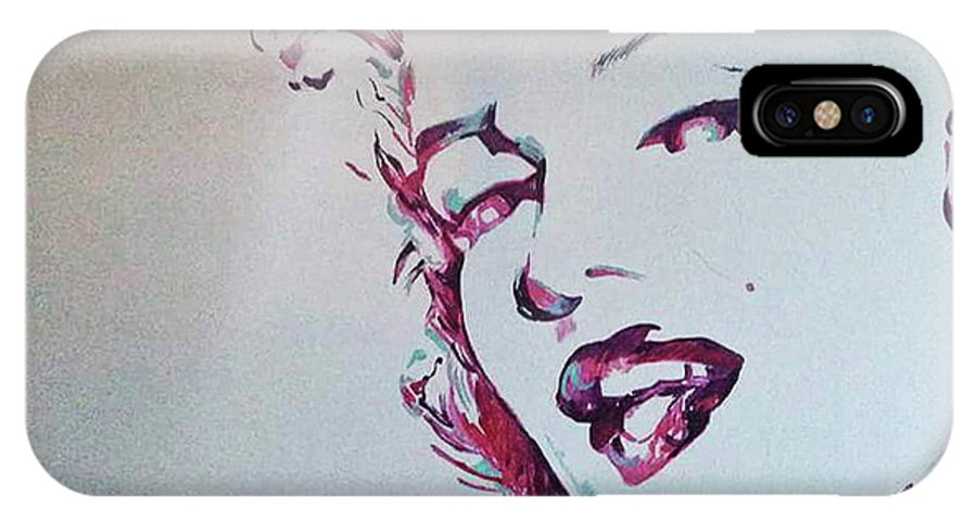 Simple Pic Of Marilyn Monroe I Her Day IPhone X Case featuring the painting Marilyn by Charis Kelley