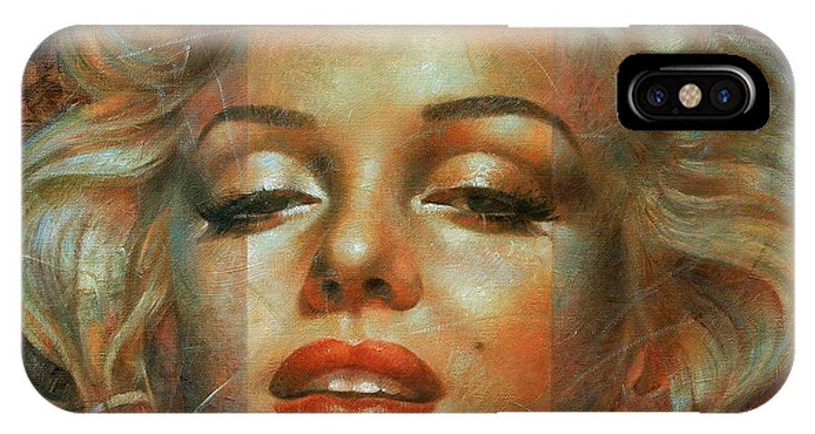 Marilyn Monroe IPhone X Case featuring the painting Marilyn Monroe by Arthur Braginsky