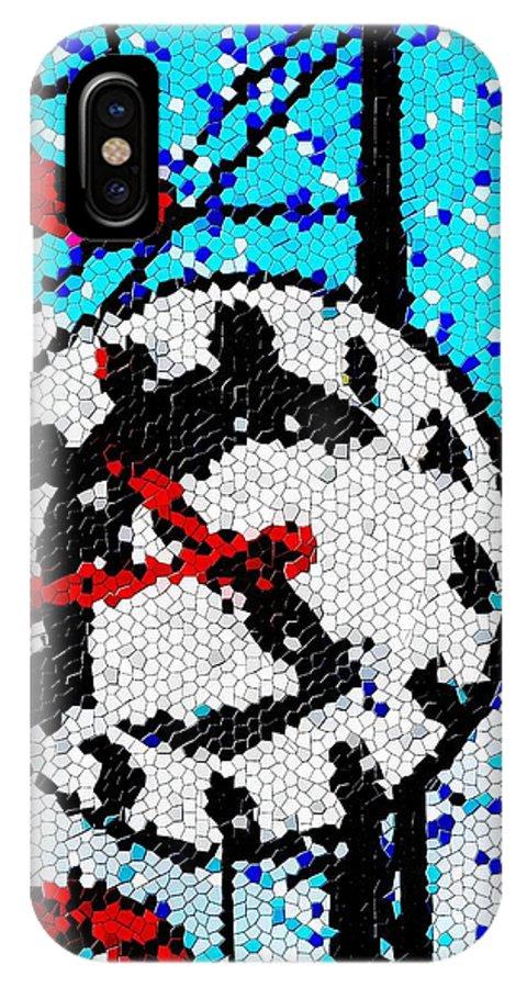 Seattle IPhone X Case featuring the digital art Market Clock Mosaic by Tim Allen