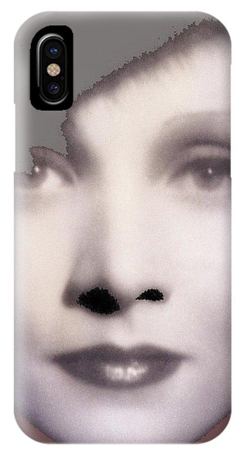 Marlene Dietrich Scarlet Empress Closeup 1934-2015 IPhone X Case featuring the photograph Marlene Dietrich Scarlet Empress Closeup 1934-2015 by David Lee Guss