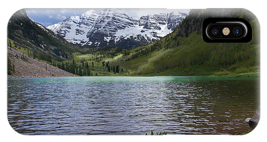 Aspen IPhone X Case featuring the photograph Maroon Bells Spring by Heather Coen
