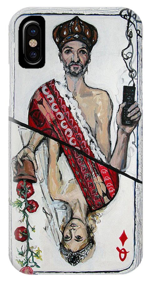 Marriage IPhone X Case featuring the painting Marriage by Mima Stajkovic