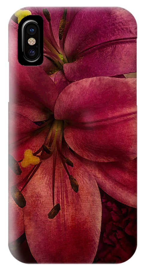 Lilly IPhone X / XS Case featuring the photograph Marsala Lily by Arlene Carmel
