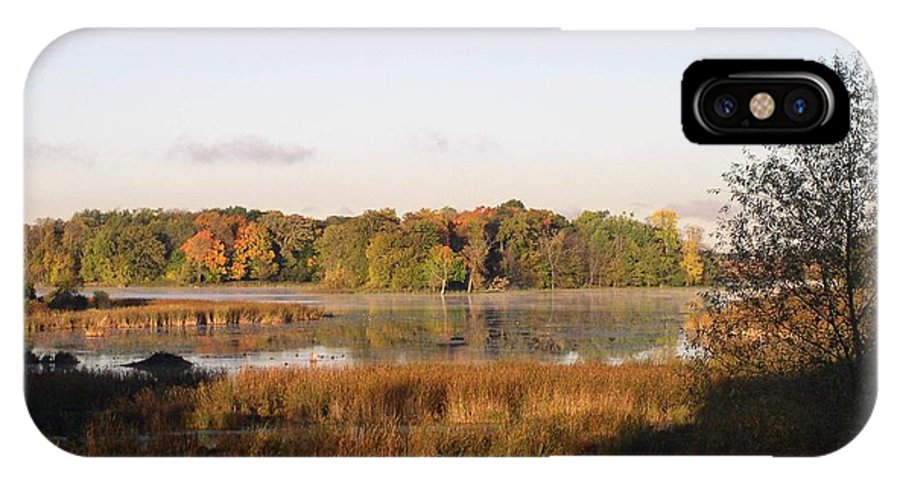 Marsh IPhone X Case featuring the photograph Marsh Morning by Mendy Pedersen