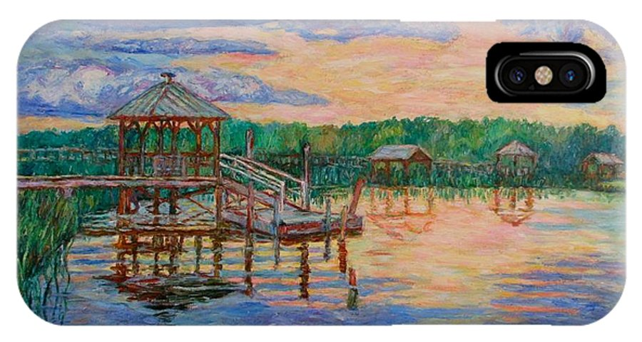 Landscape IPhone X Case featuring the painting Marsh View At Pawleys Island by Kendall Kessler