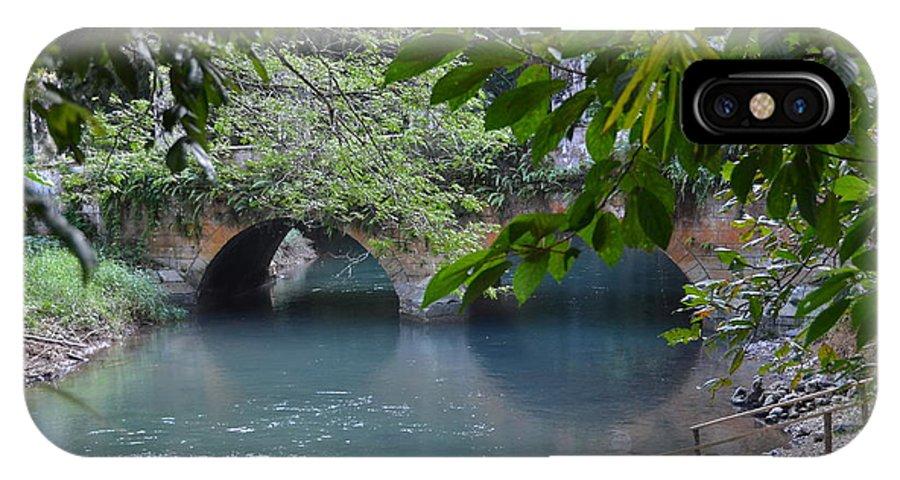 Bridge IPhone X Case featuring the photograph Martha Brae River by Carol Bradley