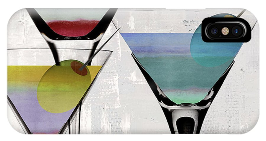 Martini IPhone X Case featuring the painting Martini Prism by Mindy Sommers