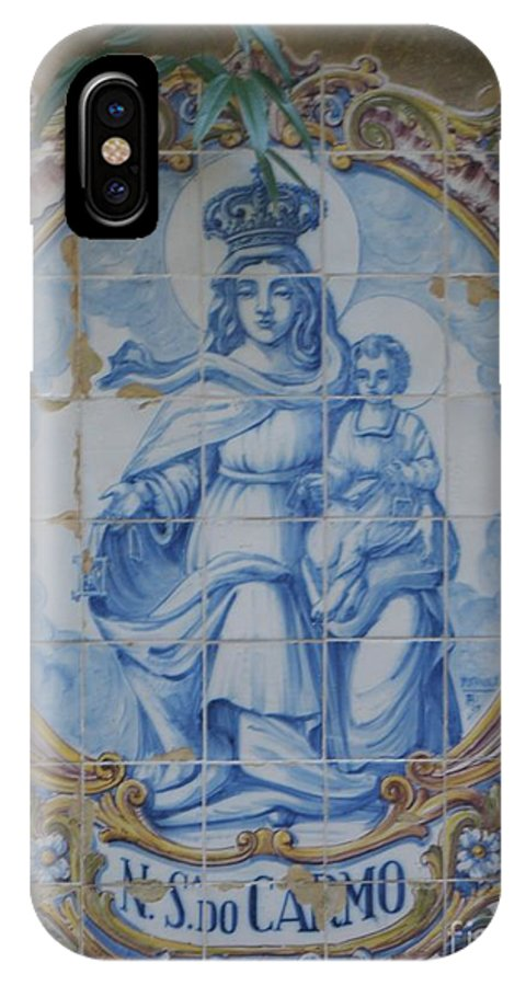 Christian IPhone X Case featuring the photograph Mary And Jesus by Jeanie Watson