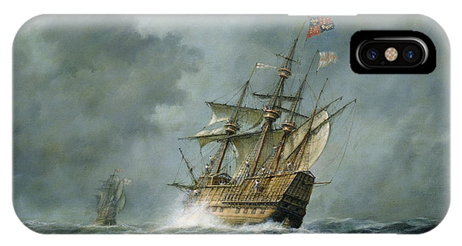 Mary Rose IPhone X Case featuring the painting Mary Rose by Richard Willis