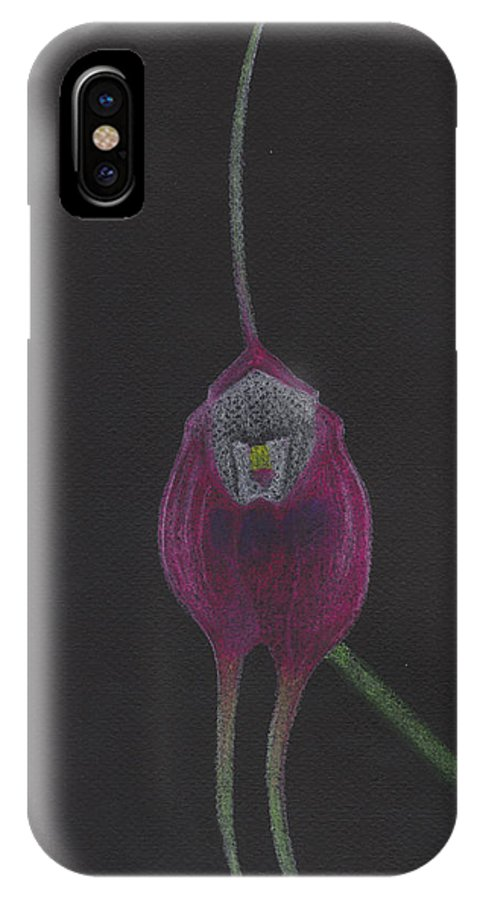 Orchid IPhone X Case featuring the pastel Masdevallia Infracta Orchid by M Valeriano