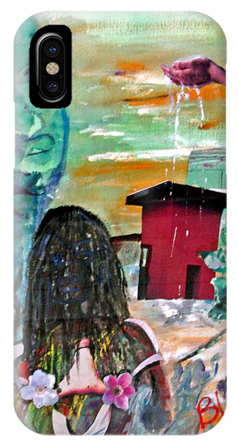 Water IPhone Case featuring the painting Masks Of Life by Peggy Blood