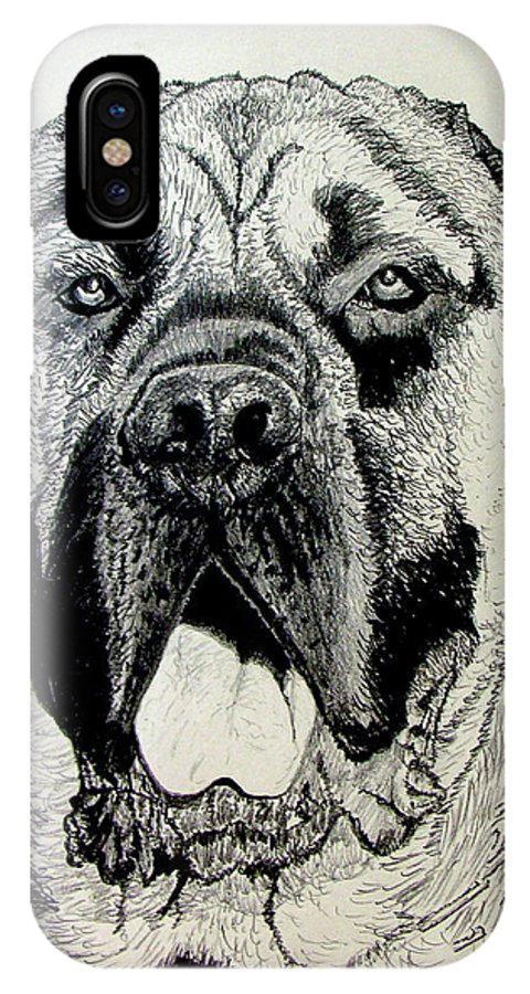 Mastiff IPhone Case featuring the drawing Mastiff by Stan Hamilton
