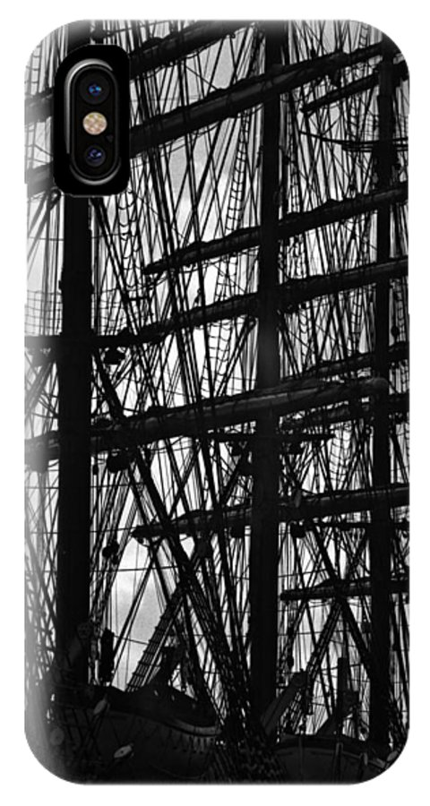 Ship IPhone X / XS Case featuring the photograph Masts by David Halperin