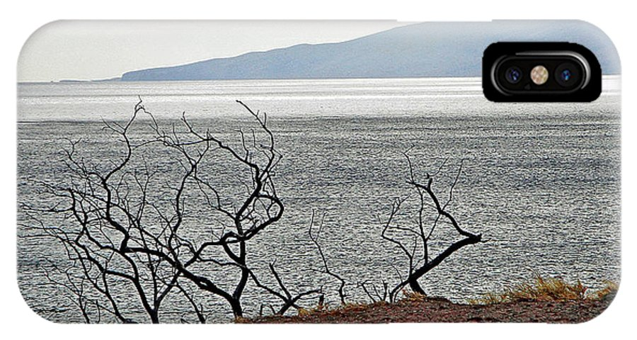 Maui IPhone X Case featuring the photograph Maui's View Of Lanai by Robert Meyers-Lussier