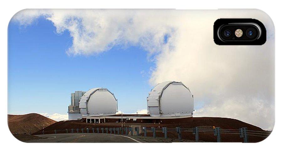 Mauna Kea Observatories IPhone X Case featuring the photograph Mauna Kea Observatories by Kimberly Reeves