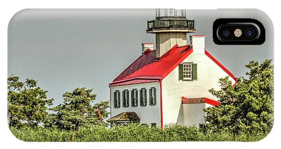Maurice Island Lighthouse IPhone X Case featuring the photograph Maurice River, New Jersey, East Pointe Lighthouse by Geraldine Scull