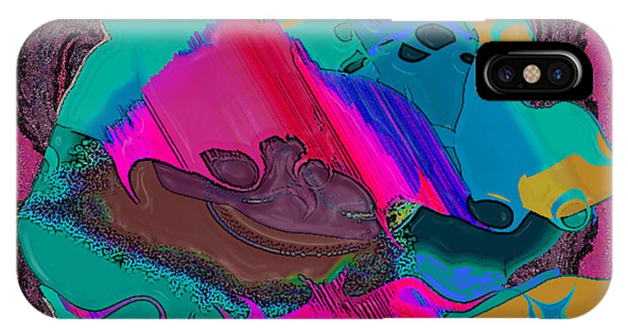 Ebsq IPhone X Case featuring the digital art Mauve Abstract by Dee Flouton