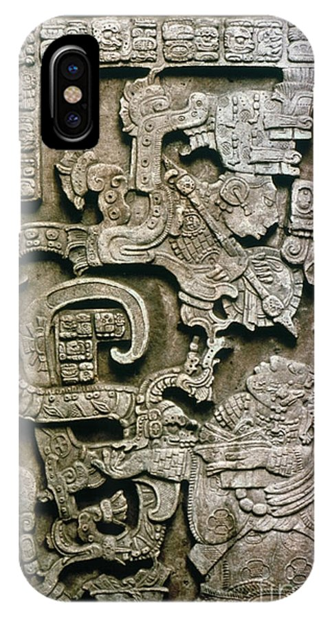 681 IPhone X Case featuring the photograph Mayan Glyph by Granger