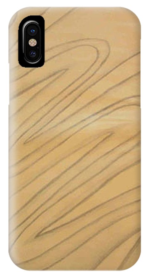 Abstract IPhone X Case featuring the drawing Maze Of Life Drawing by Natalee Parochka