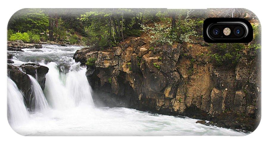 Landscape IPhone X Case featuring the photograph Mccloud Lowerfalls by Karen W Meyer