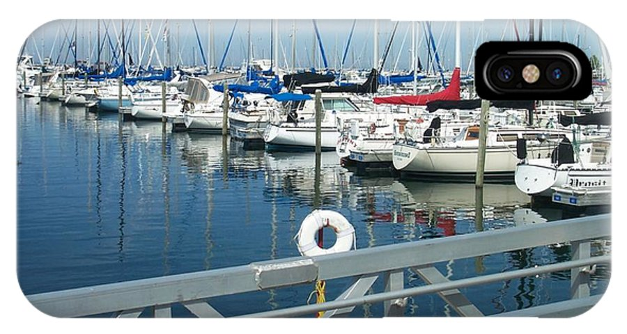Mckinley Marina IPhone X Case featuring the photograph Mckinley Marina 4 by Anita Burgermeister