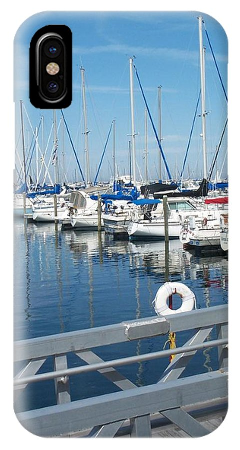 Mckinley Marina IPhone X Case featuring the photograph Mckinley Marina 5 by Anita Burgermeister