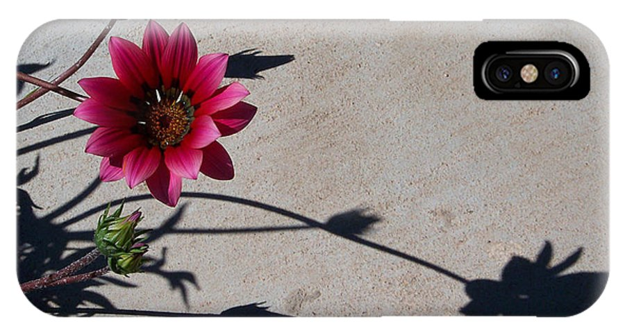 Flowers IPhone X Case featuring the photograph Me and My Shadow by Kathy McClure