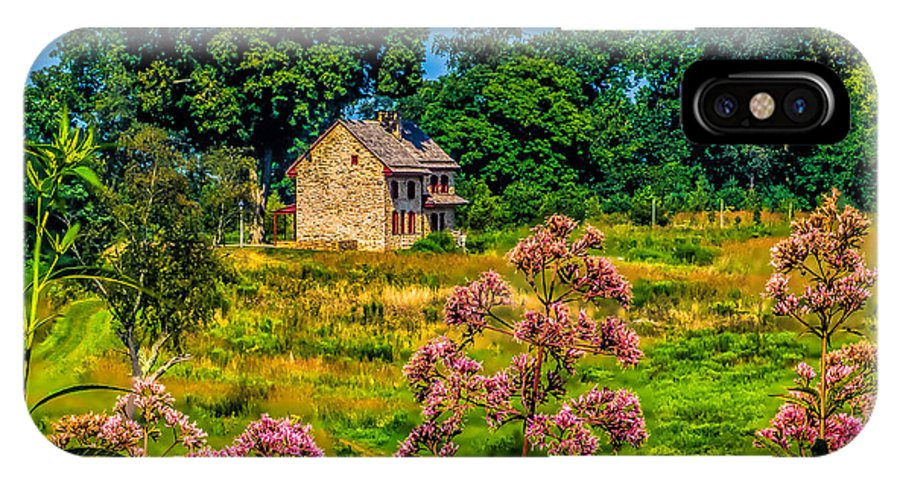 Flowers IPhone X / XS Case featuring the photograph Meadow House At Longwood by Nick Zelinsky