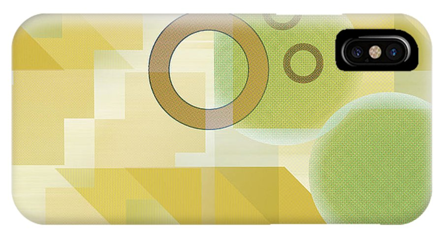 Digital IPhone X Case featuring the digital art Measurable Mingle by Ruth Palmer
