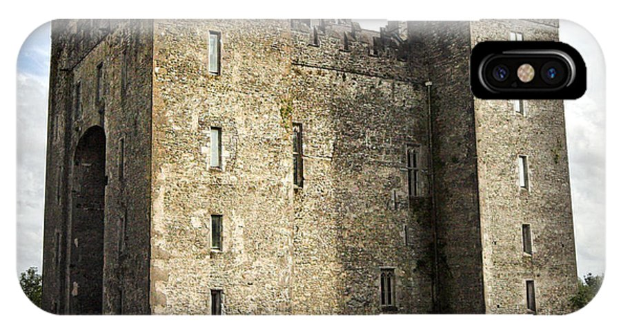 Bunraty IPhone X Case featuring the photograph Medieval Bunraty Castle Ireland by Pierre Leclerc Photography