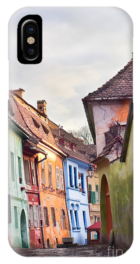 Architecture IPhone X Case featuring the photograph Medieval Streets by Gabriela Insuratelu