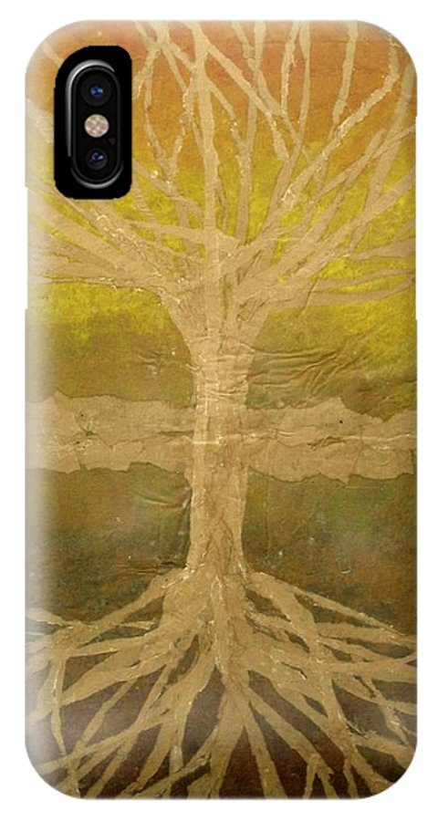 Abstract IPhone Case featuring the painting Meditation by Leah Tomaino