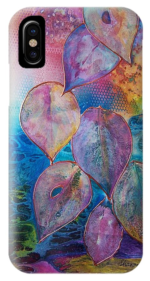 Meditation IPhone X Case featuring the painting Meditative Bliss by Vijay Sharon Govender