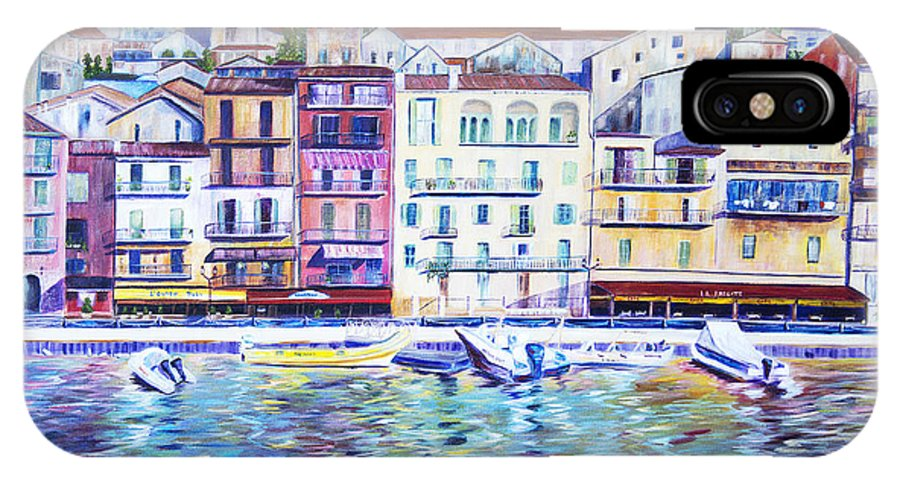 France IPhone X Case featuring the painting Mediterranean Morning by JoAnn DePolo
