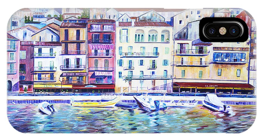 France IPhone X / XS Case featuring the painting Mediterranean Morning by JoAnn DePolo