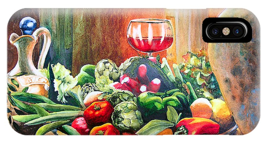 Still Life IPhone Case featuring the painting Mediterranean Table by Karen Stark