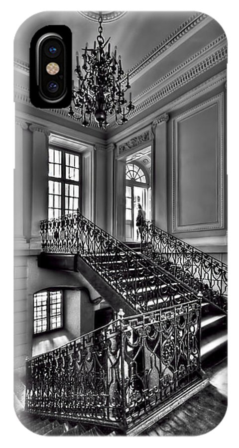 Stair IPhone X / XS Case featuring the photograph Meet Me Half Way by Evelina Kremsdorf