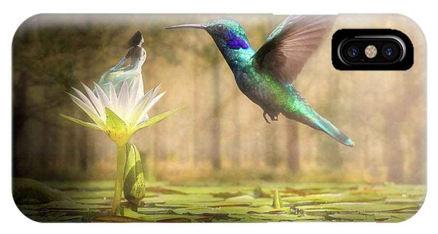 Wildlife IPhone X Case featuring the digital art Meeting Mother Nature by Nathan Wright