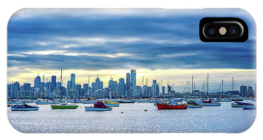 Melbourne Skyline IPhone X Case featuring the photograph Melbourne Skyline by Max Neivandt